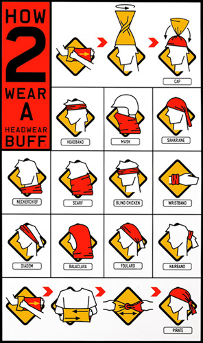 Buff sposoby noszenia