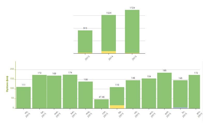 Statystyki biegowe 2015