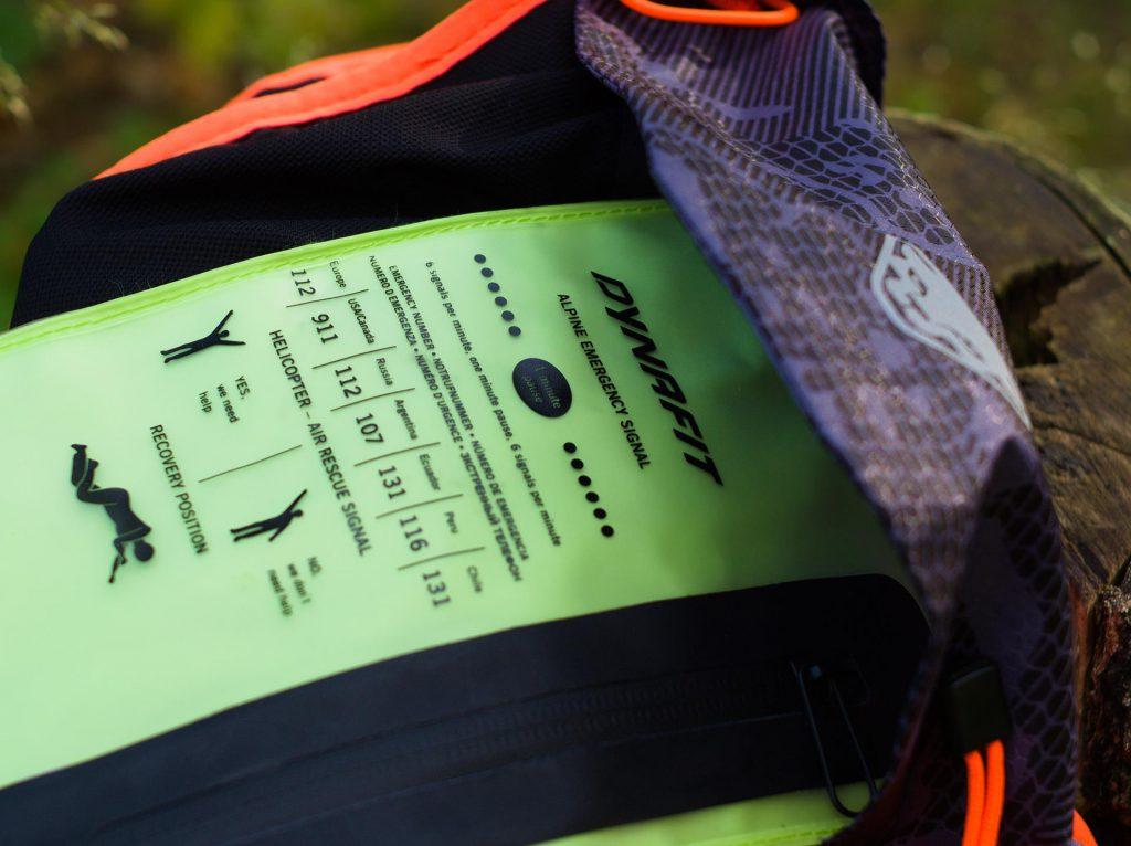 Plecak biegowy Dynafit - Vert4. Wewnętrzna, wodoodporna kieszeń.